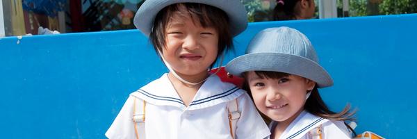 おおぞら幼稚園は「ともに育ちあう」をテーマに、生きる力を育み、人として調和のとれた子どもの育成を目指しています。